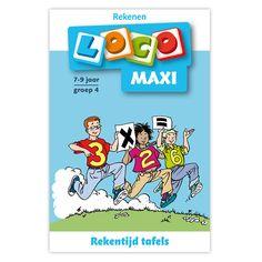 In deze Maxi Loco staan verschillende tafels. Kinderen moeten de tafels van 1 t/m 10 uit hun hoofd kennen. Doordat er in dit Loco boekje variatie is gebracht op de tafels blijft het leuk om de tafels te leren. Geschikt voor kinderen vanaf 7 jaar.Afmeting:  23,5 x 15,5 cm - Maxi Loco - Rekentijd, tafels groep 4 (7-9)