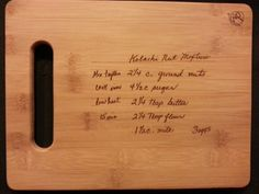 Custom engraved cutting board for Carly from 3dcarving on Etsy