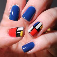 Piet Mondrian Nails (work / play / polish)