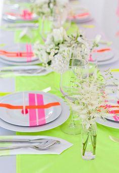 CAKE. | events + design: Modern Holiday: Neon + Neutrals