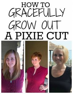 this claims 7 months for a bob... THAT'S FOREVER! Growing Out Short Hair Styles, Growing Out Hair, Grow Hair, Short Hair Cuts, Pixie Cuts, Haircut Tip, Pixie Haircut, Formal Hairstyles, Pixie Hairstyles