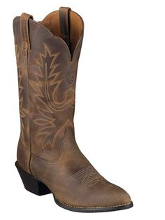 "Ariat Heritage 12"" R Toe Western Boots"