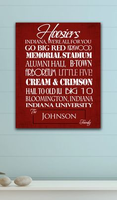 Hoosiers - for your house!