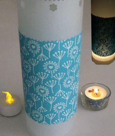 Lichthülle Pustbeblumen Stoff für Teelicht o. LED von ღKreawusel-Designღ auf DaWanda.com