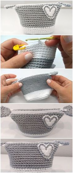 Crochet Beautiful Purse With Zipper - Free Pattern [Video]