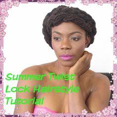Summer Twist Lock Hairstyle Tutorial/Jungle Barbie