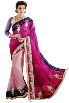 Blouse Fabric Velvet, Net Colour Pink Fabric Georgette, Net Fabric Care Dry Clean Only Occasion Festival, Wedding, Party Shipping time 7 days Work Embroidered Lehenga Saree, Georgette Sarees, Sarees Online India, Embroidery Saree, Latest Sarees, Pink Saree, Party Wear Sarees, Pink Fabric, Saree Collection