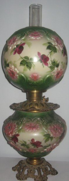 Original Gone with the Wind Oil Lamp with a floral designGwwlamp.jpg (236×620)