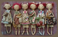 Primitive Doll E-Pattern Six Pack Seasonal Raggedies Mais