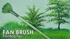 Acrylic Painting Lesson - How to Paint Grasses and Other Plants Using Fa...
