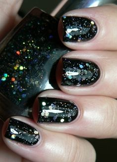 Black Onyx Glitter Nail Polish! Love it a ton!