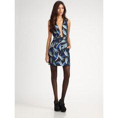 Diane von Furstenberg New Capreena Mini Dress ($199) found on Polyvore
