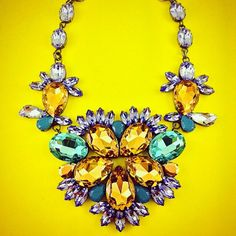 New Summer Collection: Big #Provence #Levander #Flower #Statement #Necklace - All #Crystals from #Swarovski® - Old #Silver-plated #Elements