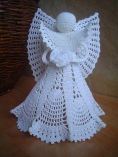 Aniołki i figurki Crochet Baby Dress Pattern, Crochet Snowflake Pattern, Vintage Crochet Patterns, Christmas Crochet Patterns, Crochet Snowflakes, Doily Patterns, Christmas Knitting, Crochet Designs, Crochet Doilies
