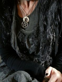 Mori Fashion, Fashion 101, Witch Fashion, Gothic Fashion, Forest Fashion, Dark Mori, Coven, Alternative Fashion, Pendant Necklace