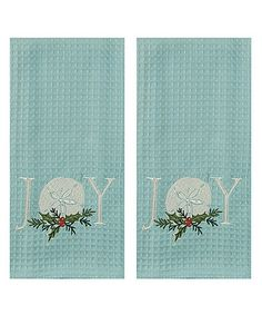 Look what I found on #zulily! 'Joy' Sand Dollar Embroidered Towel - Set of Two #zulilyfinds
