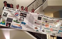 Vinyl Banners from eSigns.com are great for Sponsor Banners, like this banner for the Run From The Rays 5K!