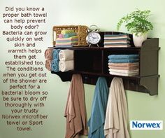 Norwex Bath Towels are my FAVORITE!  Do you have cabins or RV's with limited space?  Then Norwex Bath towels are for you!  www.kimberlythomas.norwex.biz