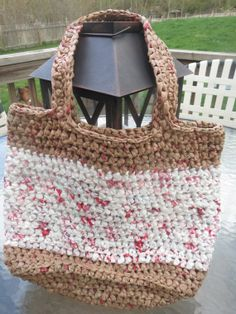 Upcycled / Recycled Crochet Plastic bag Tote by EricSerrano, miycrafting.com