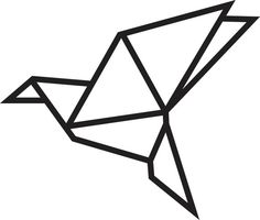 DIY Patron oiseau origami en masking tape