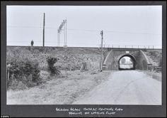 Crime scene: Bridego Railway Bridge, Ledburn, Buckinghamshire, where the heist was carried out on the Glasgow to London Royal Mail train in ...