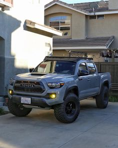 """1,176 Likes, 64 Comments - Cement Tacoma TRD Pro (@alldayaaronn) on Instagram: """"Recently put 35's on (Toyo Open Country MTs) - but can't wheel yet cuz she needs spacers. Last…"""""""