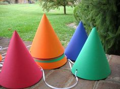 Hats for kids in the Seven Dwarfs Colors