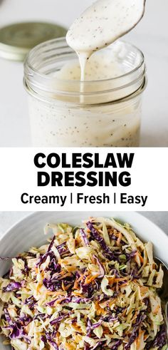 This is an easy and creamy coleslaw dressing that will turn your cabbage recipe into a delicious one! You'll have a refreshing coleslaw recipe in no time. #coleslawdressing #coleslawrecipe #summerrecipe