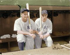 Lou Gehrig and Joe DiMaggio - NY Yankees