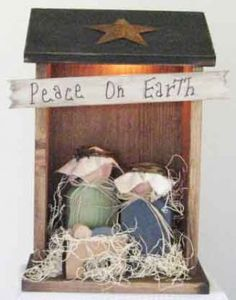Primitive Nativity Scene