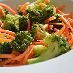 """Steamed Broccoli and Carrots with Lemon 