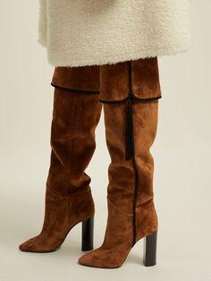 77a1273e4e7 Chic   Luxurious Saint Laurent Meurice Boots. Tall BootsKnee ...