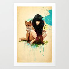 Buy Fox Love by Ariana Perez as a high quality Art Print. Worldwide shipping available at Society6.com. Just one of millions of products available.