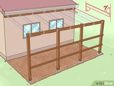 How to Add a Lean To Onto a Shed. When your shed or other storage building no longer provides enough room, you can add additional storage if you add a lean-to onto a shed. If the existing shed is structurally sound and has an exterior wall. Lean To Shed Plans, Diy Shed Plans, Storage Shed Plans, Built In Storage, Small Storage, Shed Design Plans, Garage Shed, Shed Roof, Shed Addition Ideas