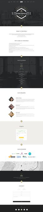 Landing page design for a tech event by Mr. Owl