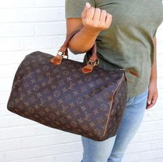 Auth  895 LOUIS VUITTON Monogram SPEEDY 35 Bag Handbag LV Malletier Lock  Keys  LouisVuitton   27b3cac243