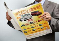 Anúncio de jornal criado para a empresa Bianco Multimarcas de Campinas. O anúncio explora técnicas do varejo para o mercado de Veículos.