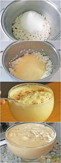Arroz Doce CremosoHi, Cristina, I'm Ana Maria's husband. She does not speak Hebrew and understands little English. If you have difficulty communicating with her, my cel (whatsapp) is 053 Shabbat Shalom. My Recipes, Mexican Food Recipes, Sweet Recipes, Cake Recipes, Dessert Recipes, Cooking Recipes, Favorite Recipes, Recipes Dinner, Healthy Recipes