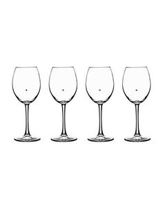 Cuisinart The Stars are the Limit White Wine Glasses Set of 4 Women's