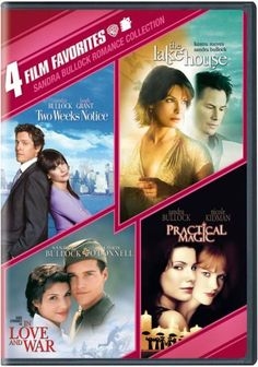 Sandra Bullock Romance Collection: 4 Film Favorites