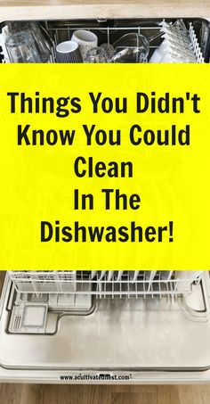 Did you know that you can use your dishwasher for so much more than just cleaning your dishes? Check out this list of things you can clean in the dishwasher plus how to deep clean your dishwasher! cleaning hacks, homemaking tips, life hacks, cleaning tips Cleaning Your Dishwasher, Diy Home Cleaning, Cleaning Blinds, Speed Cleaning, Household Cleaning Tips, Deep Cleaning Tips, Cleaning Recipes, House Cleaning Tips, Diy Cleaning Products