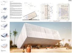 [AC-CA] International Architectural Competition - Concours d'Architecture [DAKAR] Temporary Cinema Cinema Architecture, Mosque Architecture, Architecture Panel, Religious Architecture, Presentation Board Design, Architecture Presentation Board, Architectural Presentation, Urban Design Concept, Poster Layout