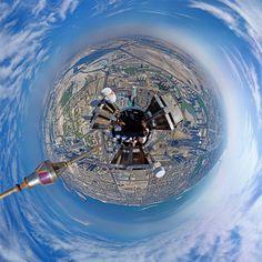 360° Panorama Foto von der Spitze des Burj Khalifa on http://www.drlima.net