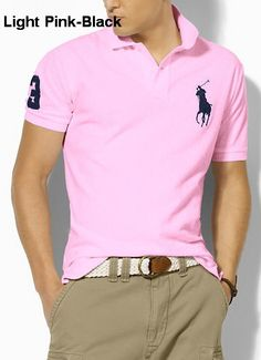Ralph Lauren Men Classic-Fit Big Pony Polo pink On Sale Cheap Ralph Lauren  Polo a14ac32ca99