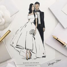 36 Ideas Wedding Couple Illustration Drawing Posts For 2019 Megan Hess Illustration, Couple Illustration, Luxe Wedding, Trendy Wedding, Wedding Details, Wedding Invitation Images, Fashion Artwork, Sophisticated Bride, Bridal Musings