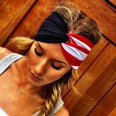 American Flag Headwrap