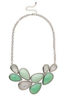 Aqua Gem Statement Necklace - maurices.com
