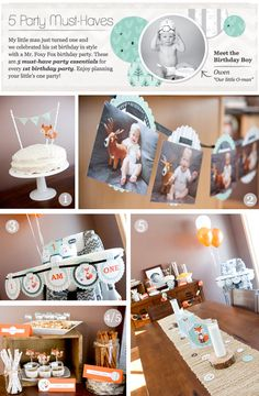 5 Must-Haves For First Birthday Parties // BigDotOfHappiness.com #firstbirthdayparty #foxbirthday