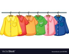 Clothes hanging vector image on VectorStock
