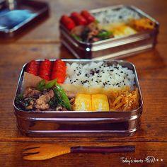 朝楽チンお弁当の詰め方☝︎|LIMIA (リミア) Work Lunch Box, Vegan Lunch Box, Bento Box Lunch, Bento Recipes, Cooking Recipes, Asian Cookbooks, Plate Lunch, Food Journal, Creative Food